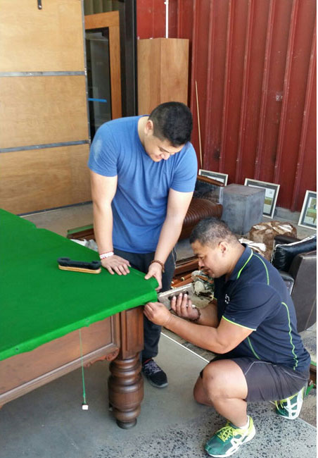 Moving and installing a pool table in Auckland