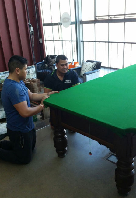 Moving a pool table and installing it