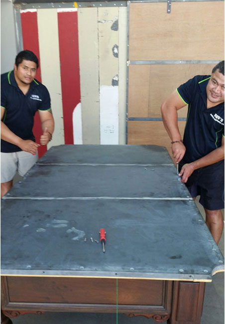 Installing the pool table securely