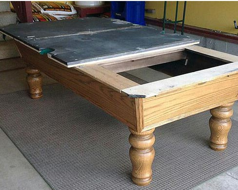 uninstalling a pool table to move it to Auckland