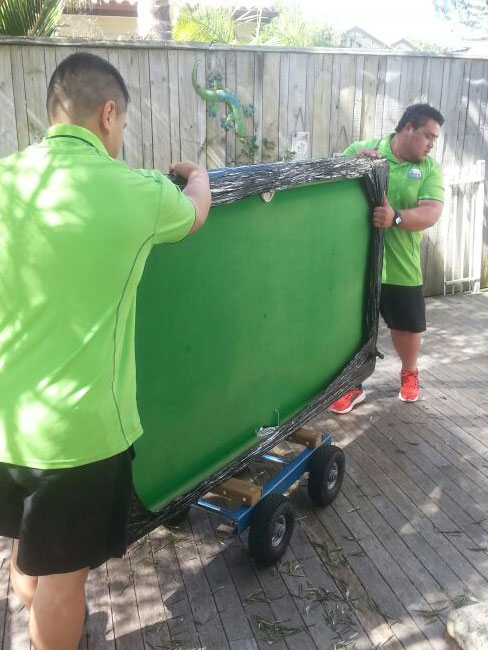 Moving a pool table safely in Auckland
