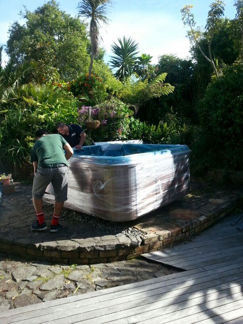 installing a spa pool after moving