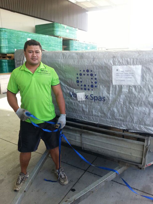 man moving a spa in auckland